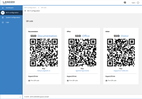 WEB config client login with QR code