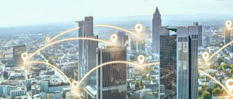 Networked big city with LANCOM SD-WAN