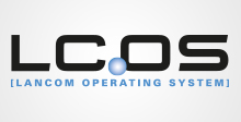 Logo LCOS - The free operating system LCOS (LANCOM Operating System) is the in-house closed-source firmware for the entire core portfolio of products from LANCOM Systems.