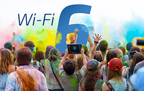 """Young people cheer """"Wi-Fi 6"""""""