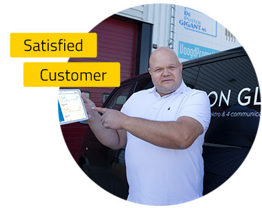 Picture of satisfied customer 'Ron Glas 4 Communicatie'