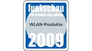 "2nd place for ""WLAN Products"" 2009"