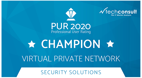 techconsult - Professional User Rating 2020 - Security Solutions - Award