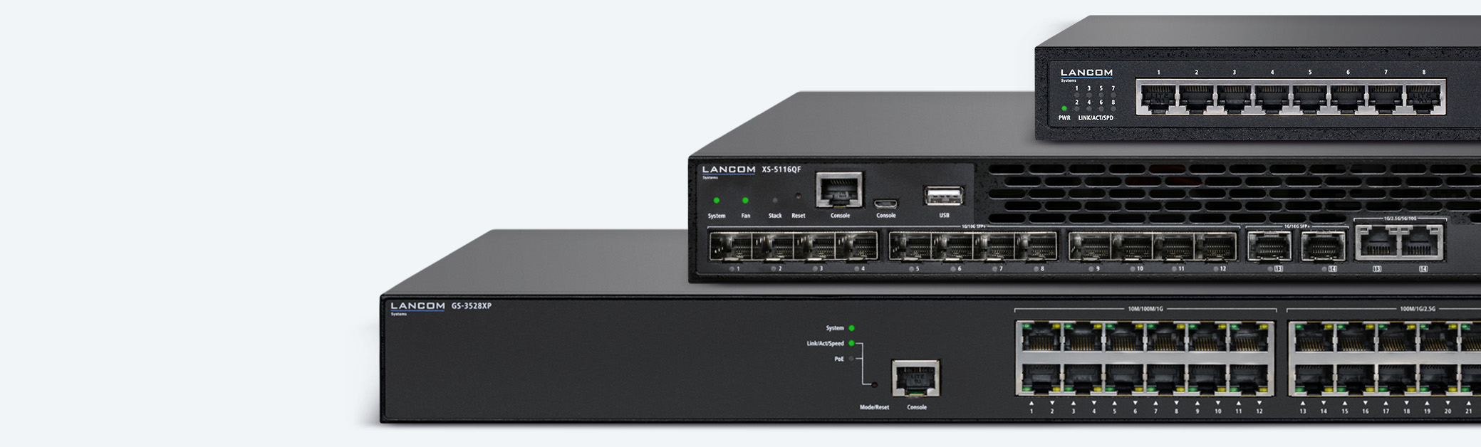 Collage of LANCOM Network Switches