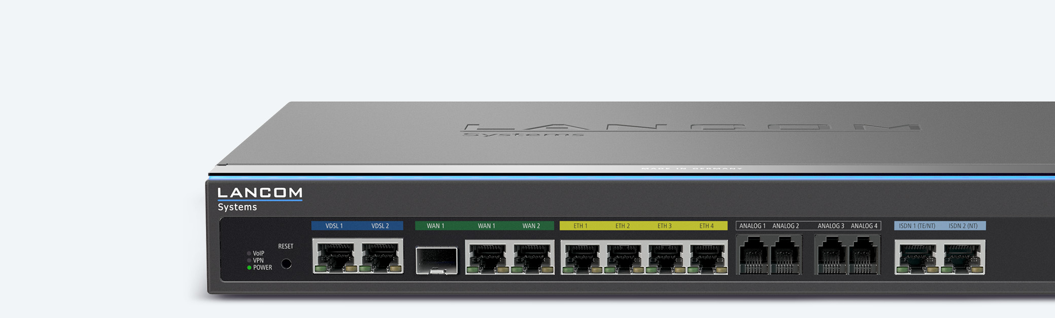 Collage of LANCOM VPN routersund SD-WAN products