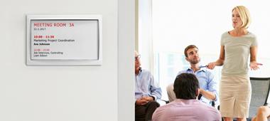 LANCOM Wireless ePaper Display for modern room signage