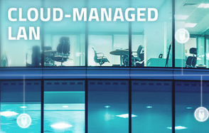 Cloud-managed LAN image with office building