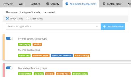 Screenshot of Application Management interface in LANCOM Management CloudScreenshot of Application Management
